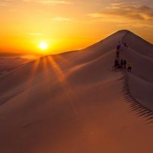 The Gobi Desert at sunset MyHoliday2 Mongolia tour