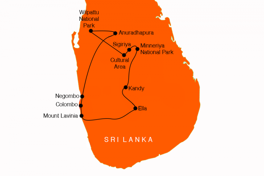 10 Day Safaris of Sri Lanka