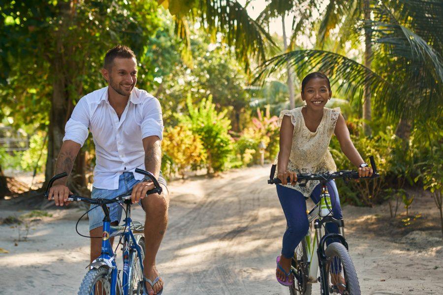 cheap yoga retreat maldives bike tour