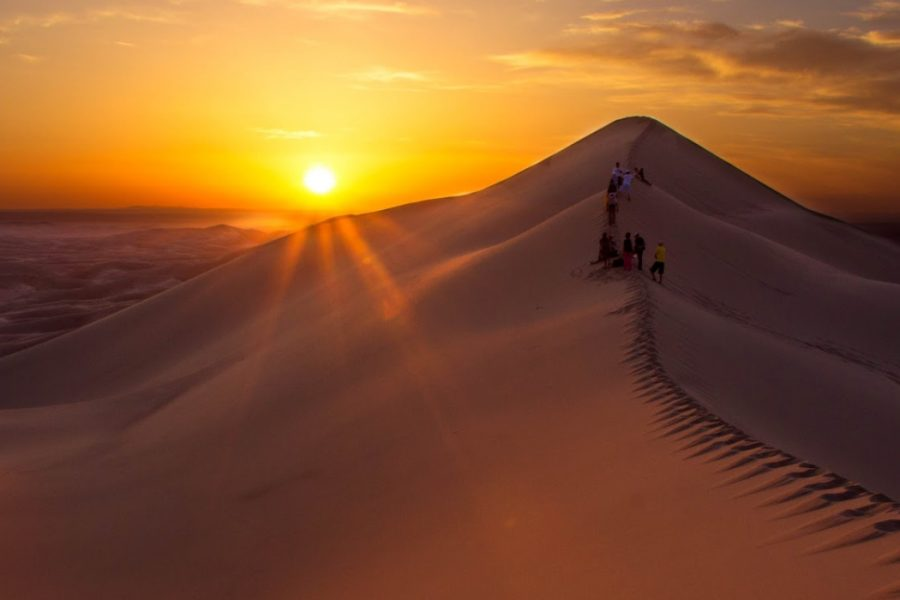 The Gobi Desert at sunset MyHoliday2 Mongolia tour
